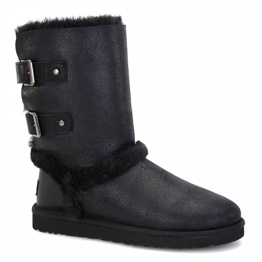 59294f5cbbf UGG Black Leather Skylah Mid Sheep Boot