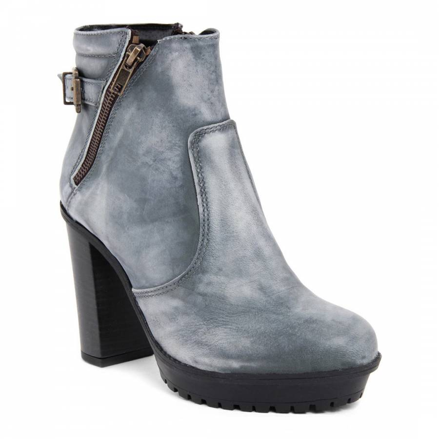petrol vintage blanca leather heeled boots brandalley