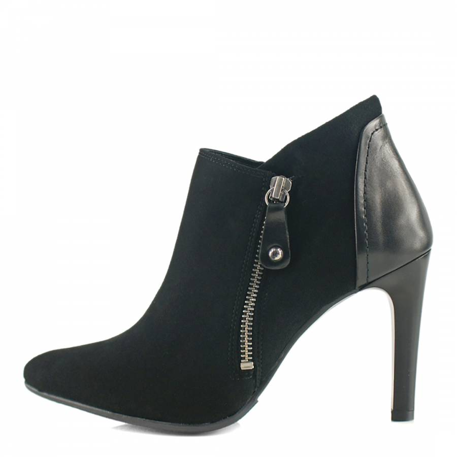 black suede spike heel boots brandalley