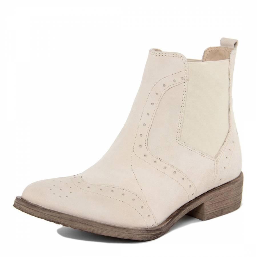 light beige leather ankle boots brandalley. Black Bedroom Furniture Sets. Home Design Ideas