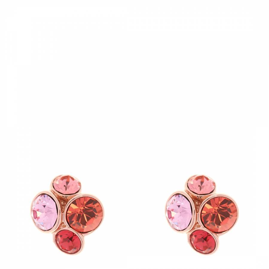 987a2c80b Coral/Rose Gold Lynda: Jewel Cluster Stud Earrings - BrandAlley