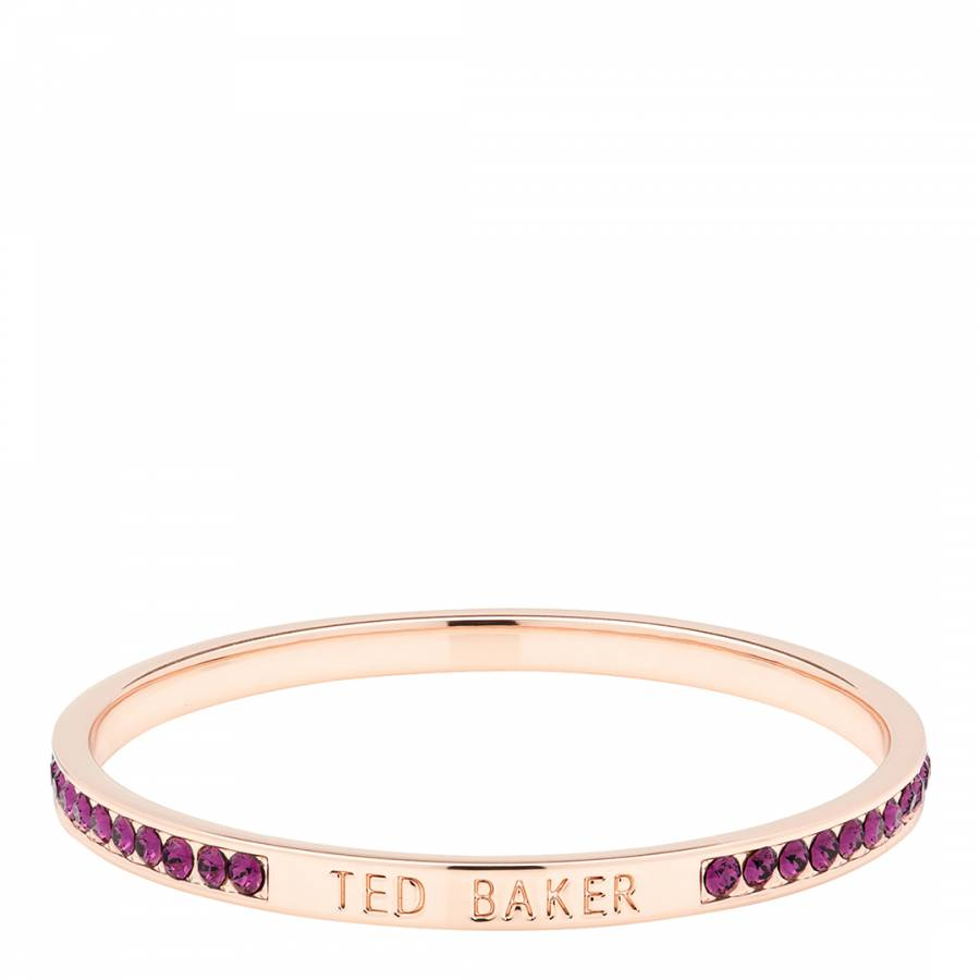 99e12d12322b1 Ted Baker Amethyst/Rose Gold Clem Narrow Crystal Band Bangle