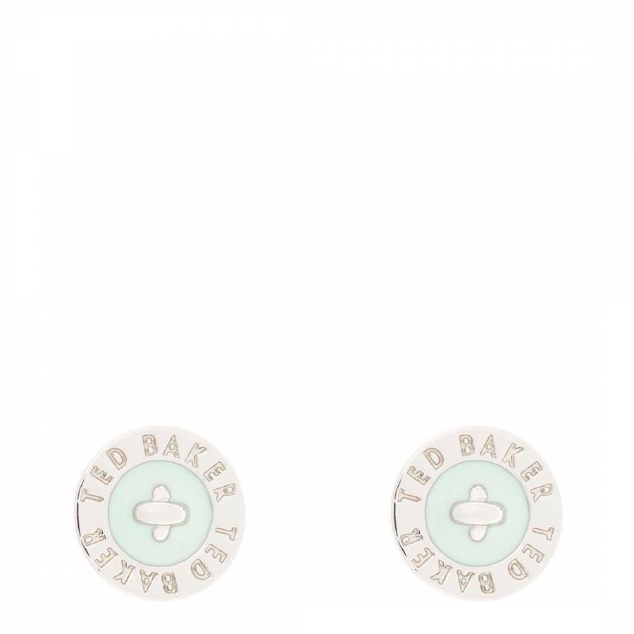 62a00ee0e Mint/Silver Tempany Enamel Logo Button Stud Earrings - BrandAlley