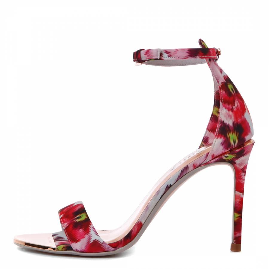 80288554a0da43 Pink Print Charv Expressive Pansy Stiletto Sandals - BrandAlley