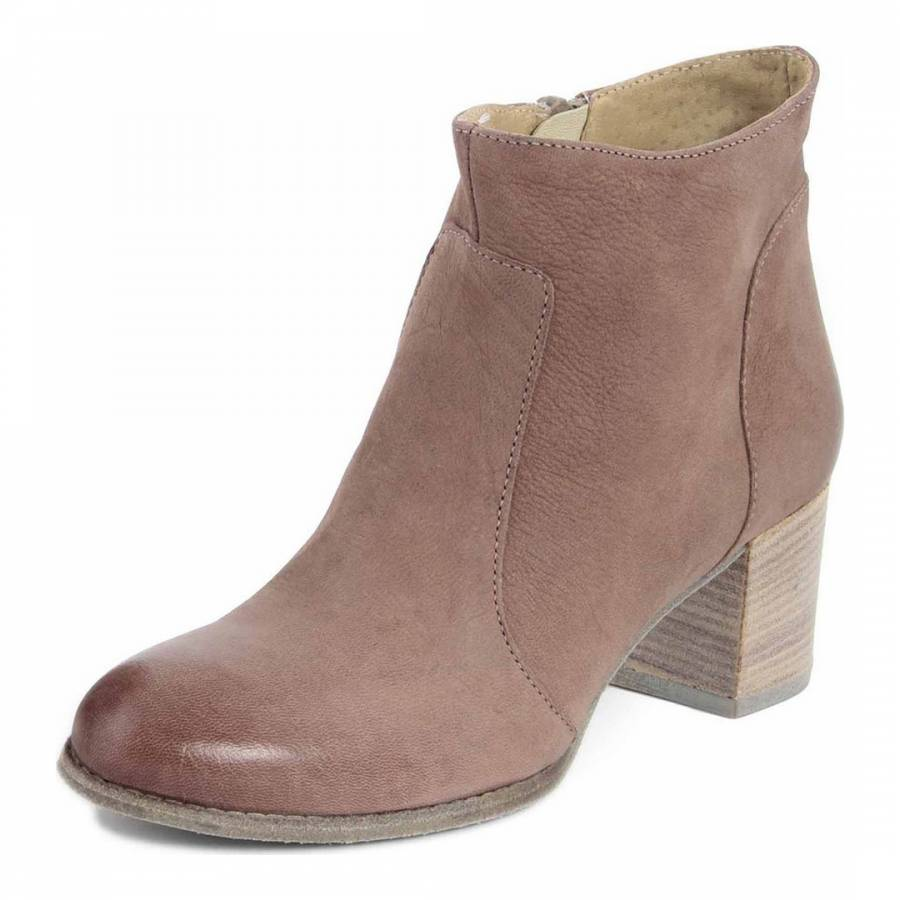 grey leather ankle boots brandalley