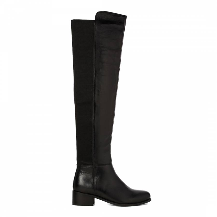 55cfc373c37 Womens Black Leather Debby Long Boots - BrandAlley