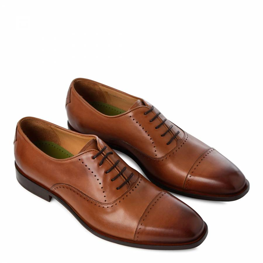 Details About Oliver Sweeney Mens Tan Livorno Toe Cap Classic Oxford Lace Up Formal Shoes