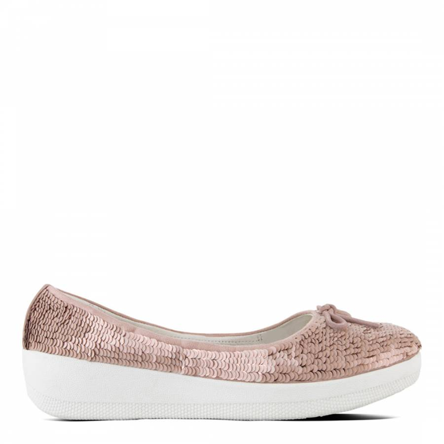 Fitflop »superballerina With Sequins« Ballerina, Rosa, Nude