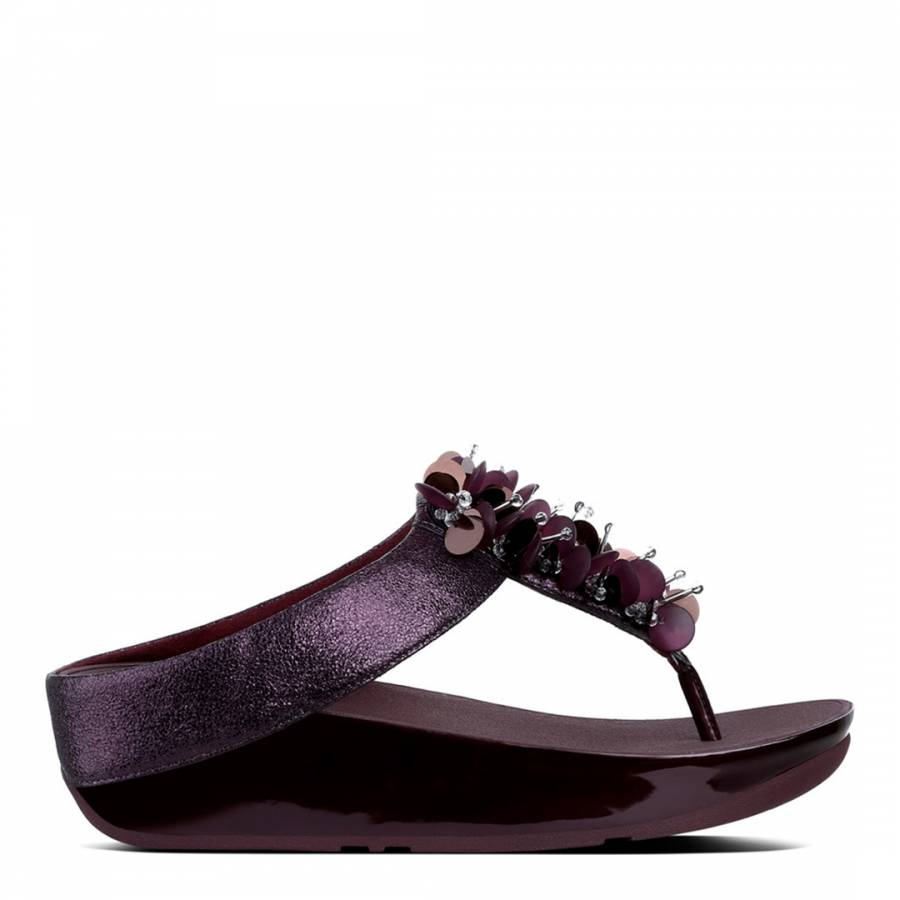 82abefaf796acc Deep Plum Boogaloo Toe Post Sandals - BrandAlley