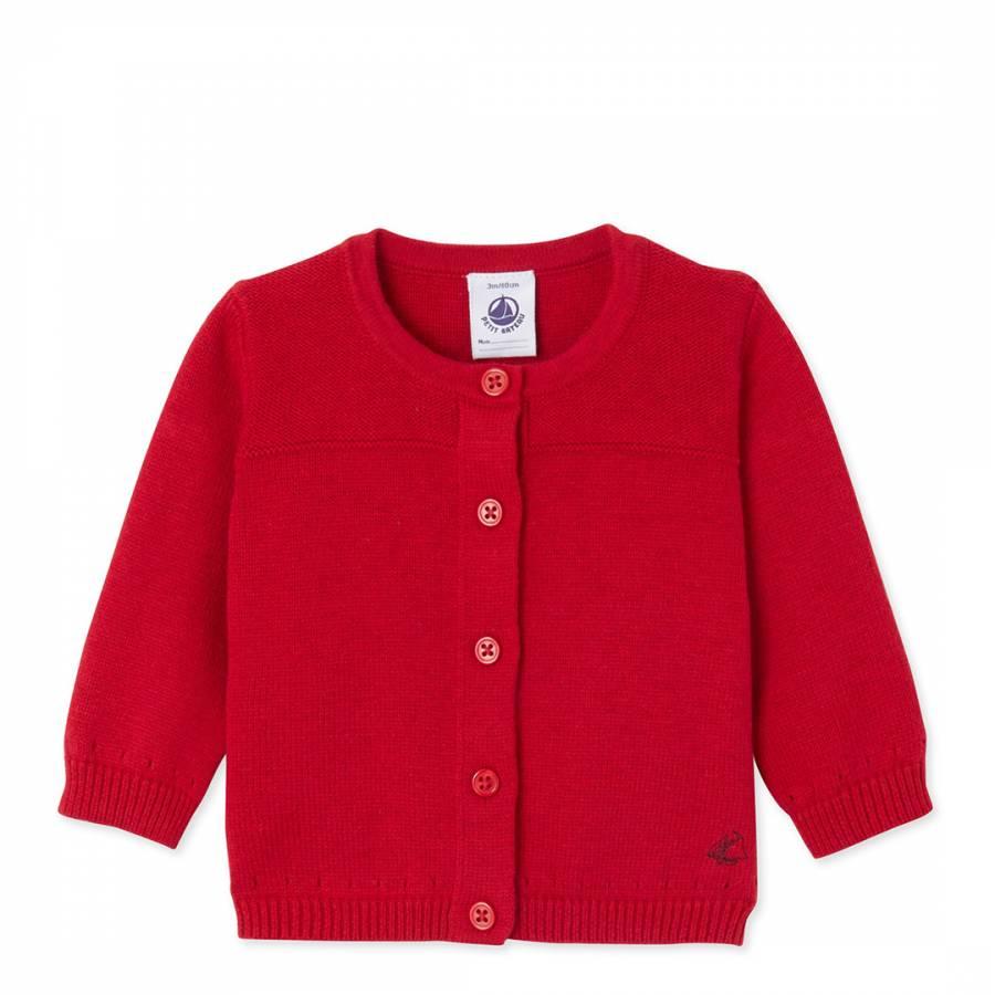 0bdbe9bc1 Red Wool Cotton Blend Cardigan - BrandAlley