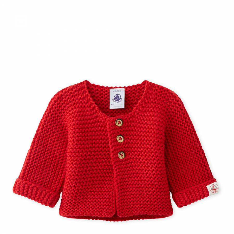 e94142f2e Red Cotton and Wool Blend Knit Cardigan - BrandAlley