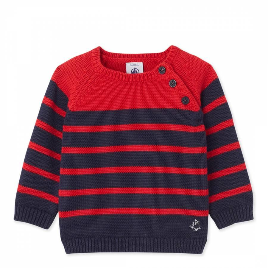 10dfe72e1 Red Navy Stripe Cotton Knit Jumper - BrandAlley