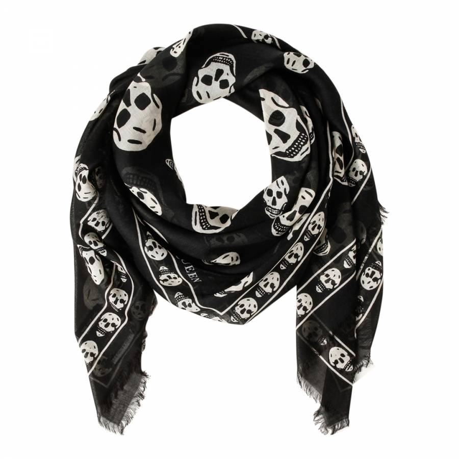 This is a Skull Black and White Scarf. Neon Diamond Skull And White Dotted Cross Bone Trim W/ Baby Fringe Scarf Black. by seamaidmm. $ $ 12 99 + $ shipping. 5 out of 5 stars 9. Product Features Style:Skull Pattern. HDE % Cotton Double Sided Print Bandana Handkerchief Head Wrap. by .