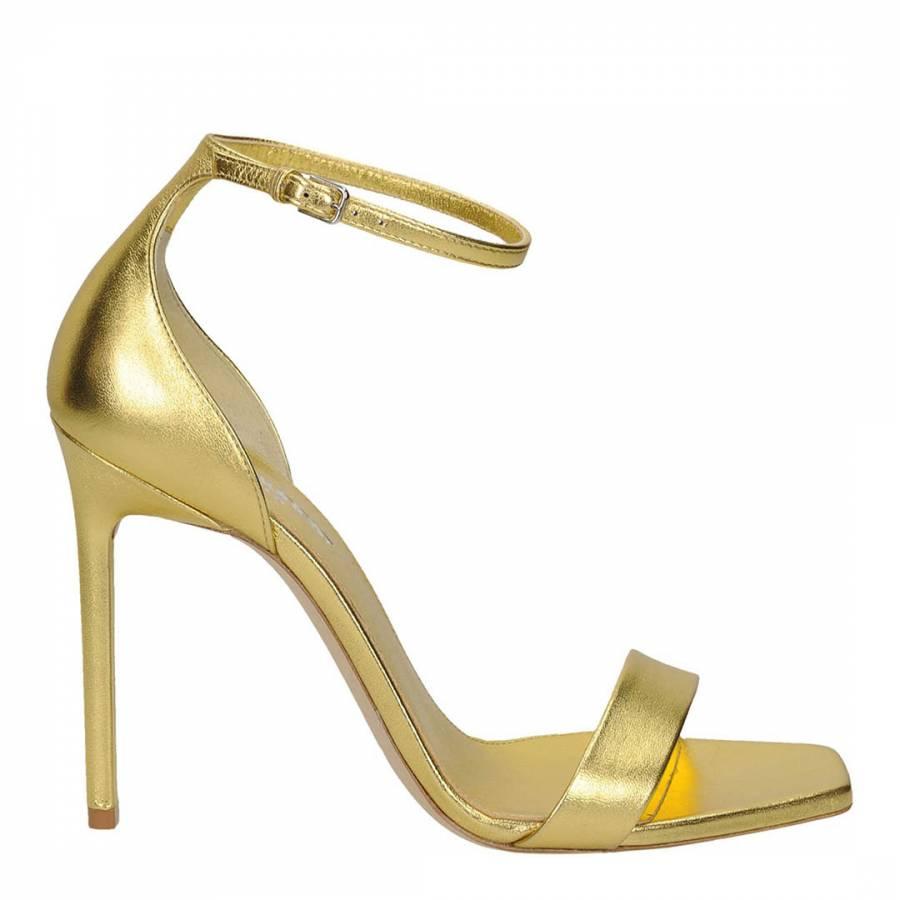 Gold Leather Amber 105 Sandal Heels Brandalley