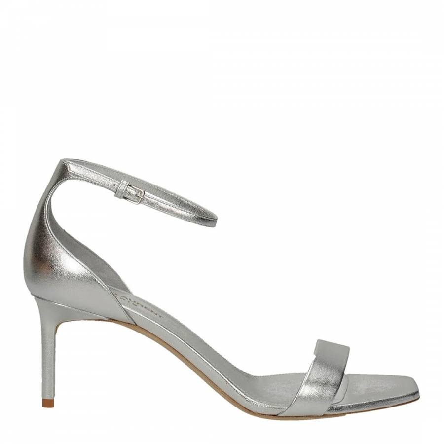Silver Leather Amber 65 Sandal Heels Brandalley