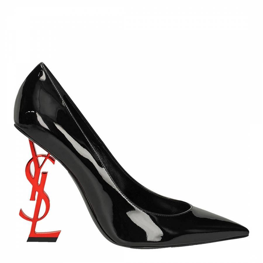 348b27b0aa Saint Laurent Black Patent Opyum Pumps With Red YSL Heel