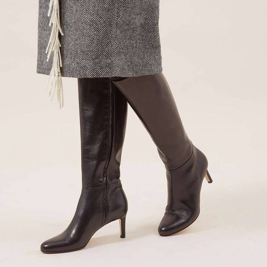 c426e1616 Black Lizzie Knee High Boots - BrandAlley