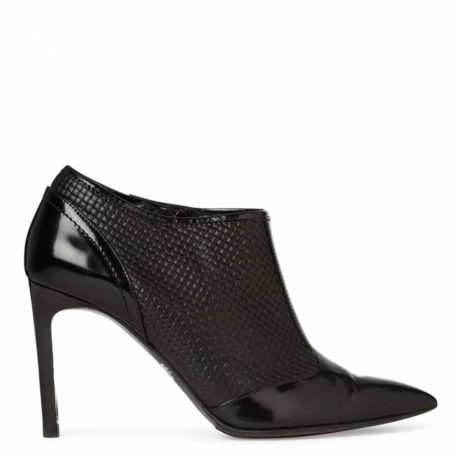 d881e36a1fb0 Boss by Hugo Boss Black Leather Lula Ankle Boots