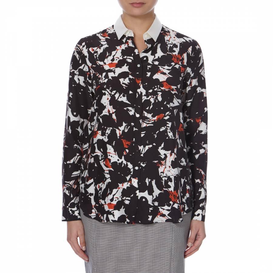 98c166e76 Boss by Hugo Boss Black/Red/White Abstract Print Bamia Silk Shirt