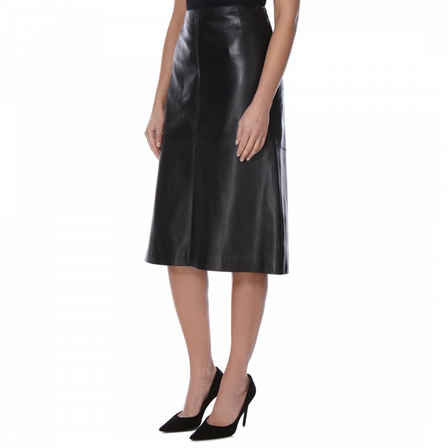 black leather a line seancho skirt brandalley