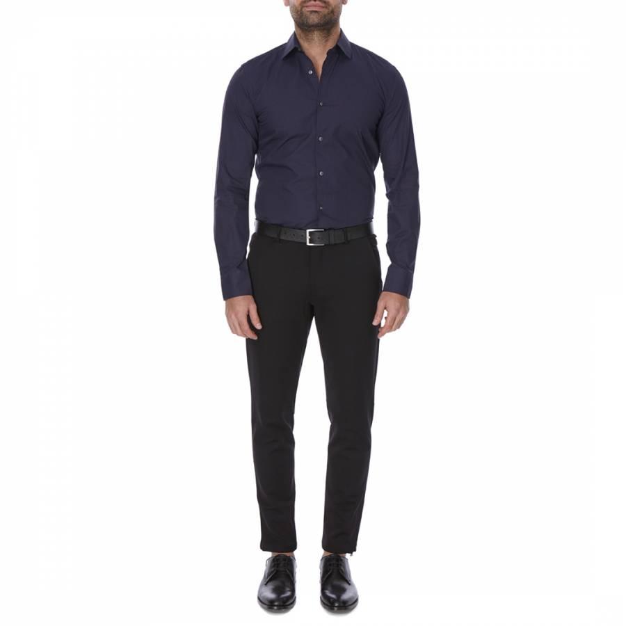 9dcb963ec Navy/Blue Patterned Slim Fit Cotton Jenno Shirt - BrandAlley