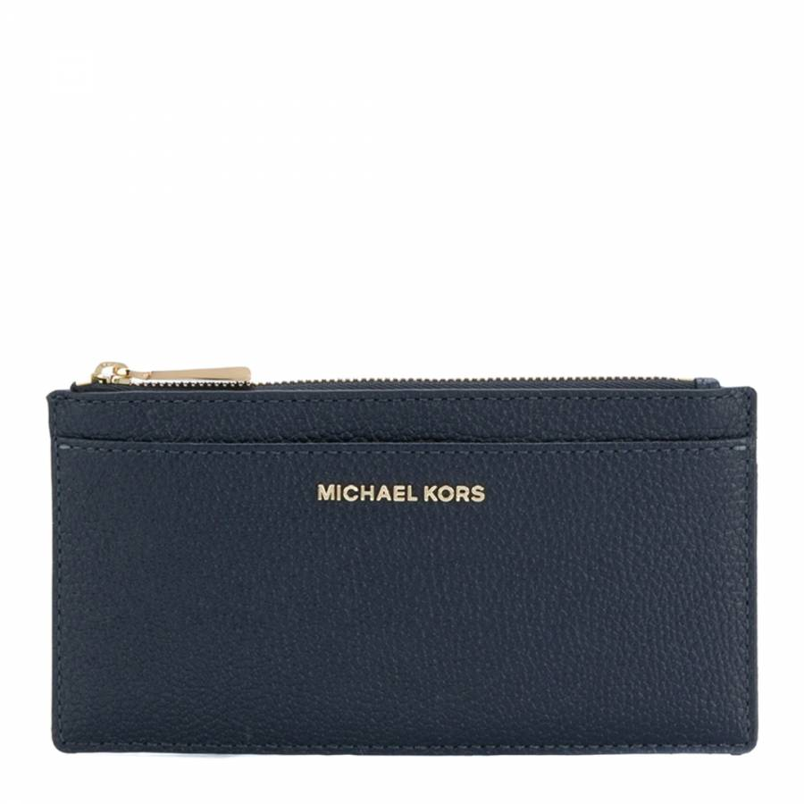57d7f2d9c443fe Navy Money Pieces Leather Card Case - BrandAlley