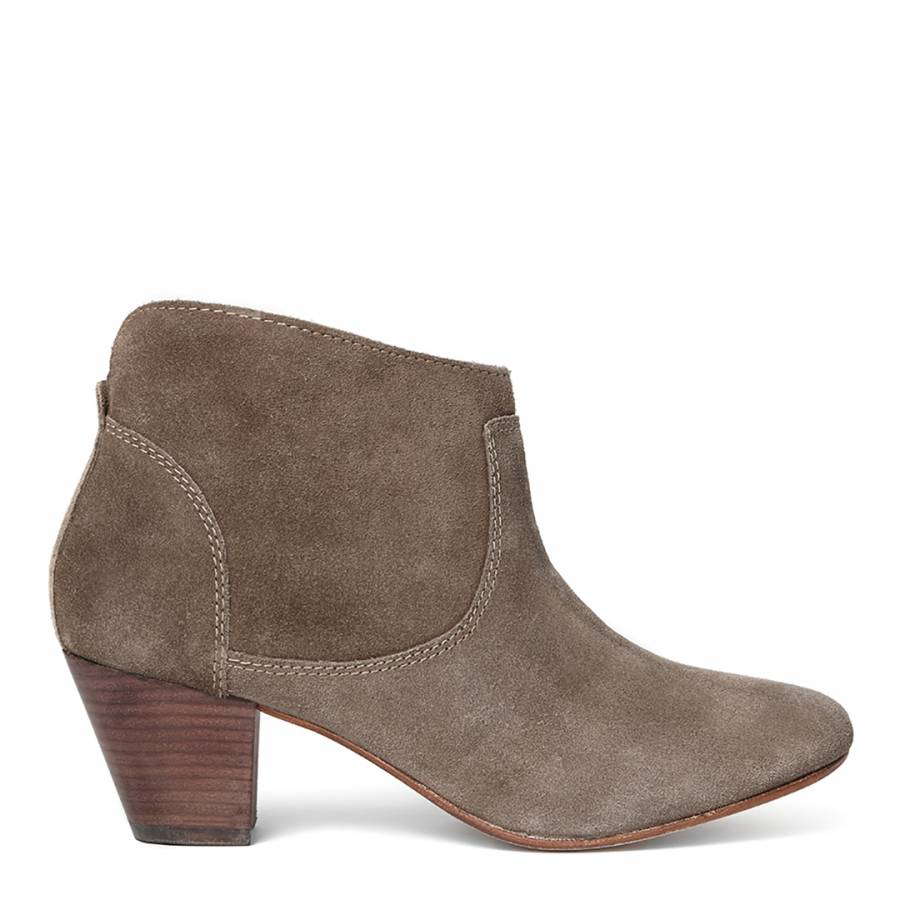 beige suede kiver ankle boots brandalley