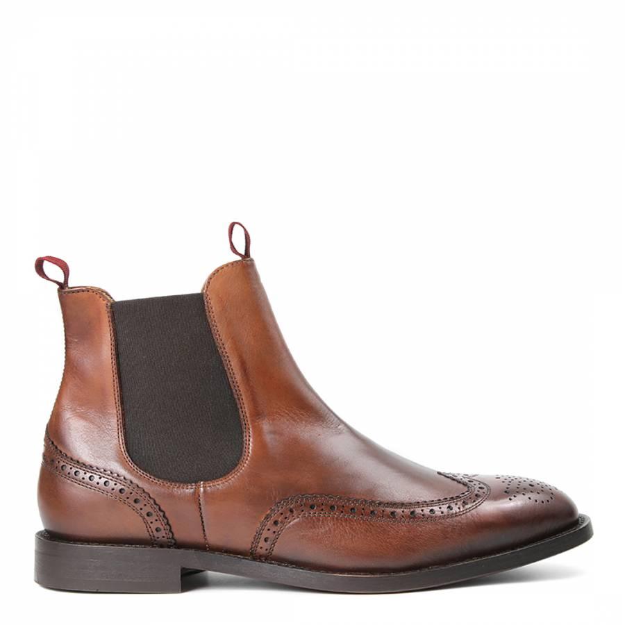 cognac leather breslin chelsea boots brandalley. Black Bedroom Furniture Sets. Home Design Ideas