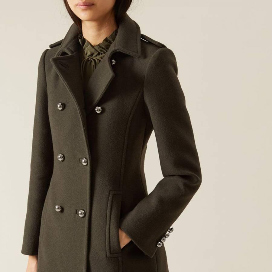 Dark Green Military Marietta Coat BrandAlley