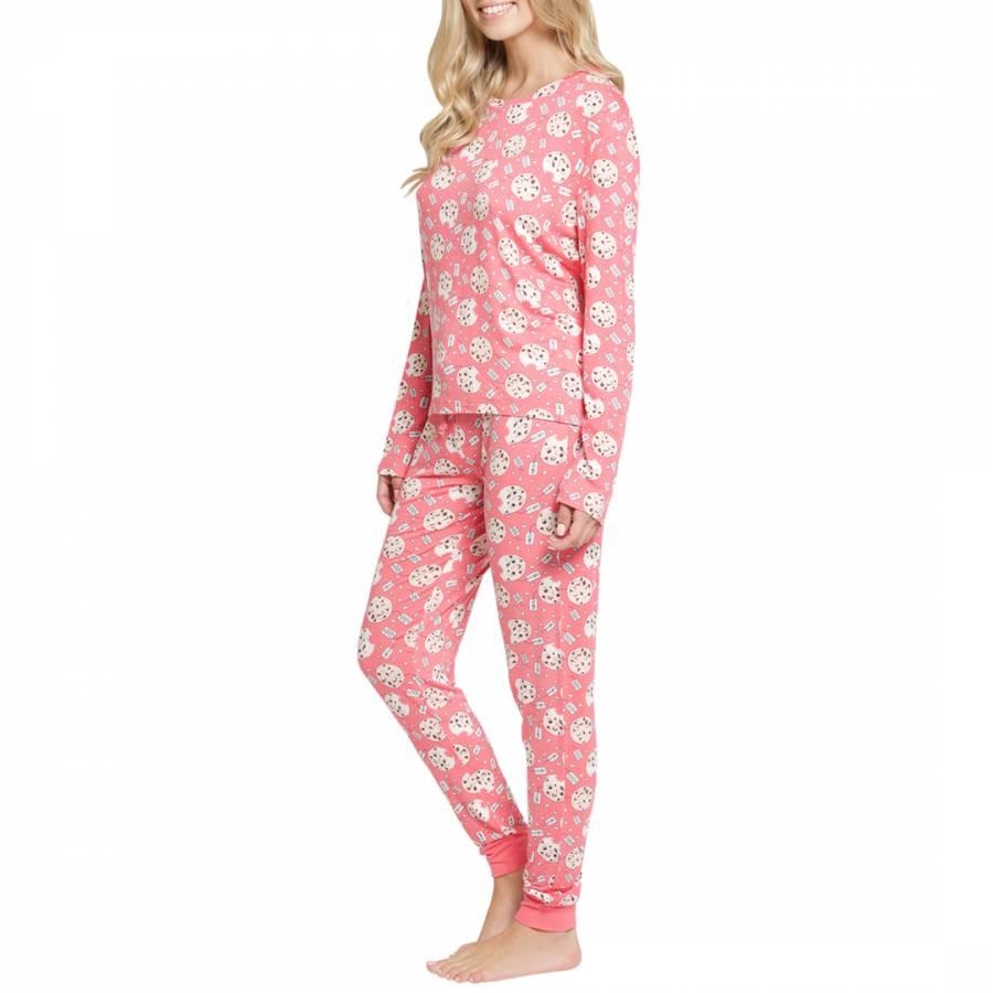45d3c419f Pink Christmas Cookie Long PJ Set - BrandAlley