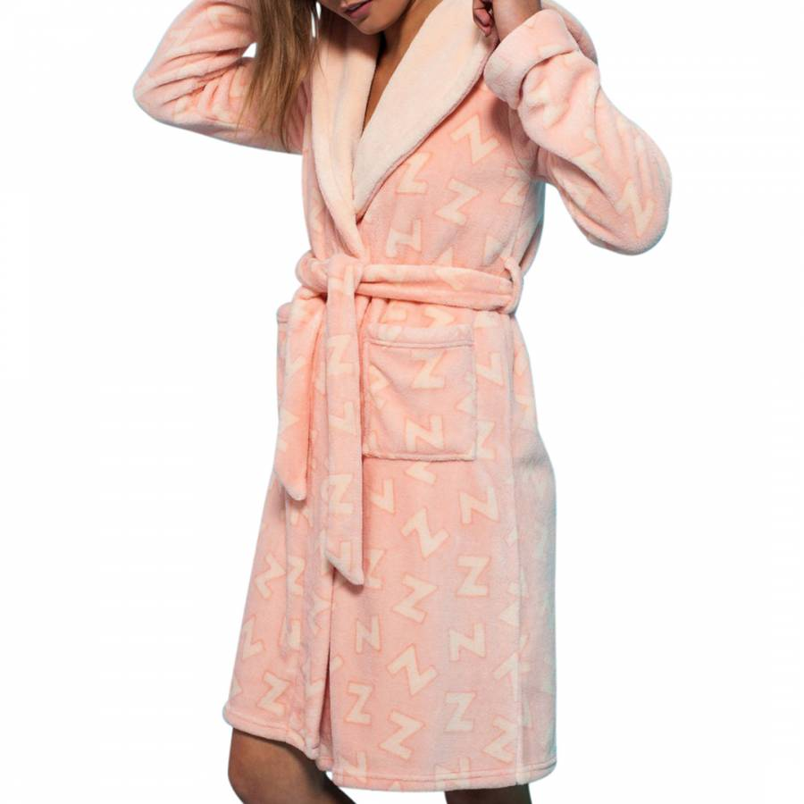 aacdc5589d Chelsea Peers Pink Giraffe Fluffy Dressing Gown