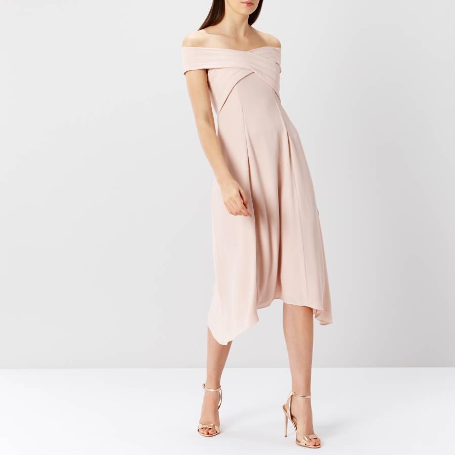 Blush Ela Soft Midi Bridesmaid Dress Brandalley