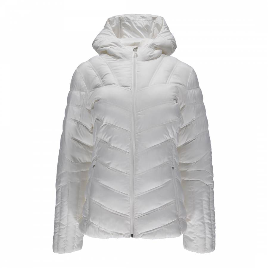 ada3b12fc6 Womens white geared hoody synthetic down jacket brandalley jpg 900x900  White down jacket spyder