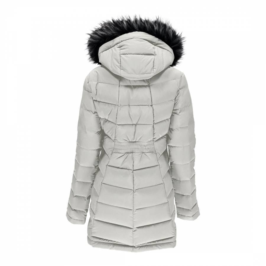 0cbb033d7 Women's White Syrround Long Faux Fur Down Coat - BrandAlley