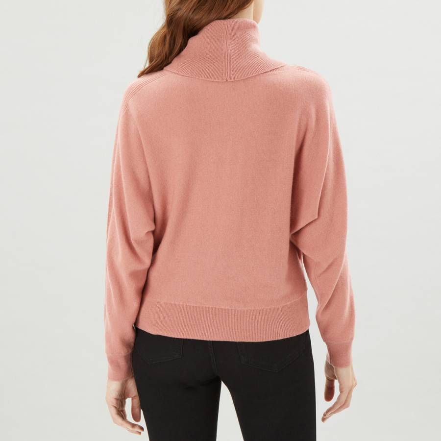 Pink Cashmere Blend Slouchy Cowl Neck Jumper BrandAlley
