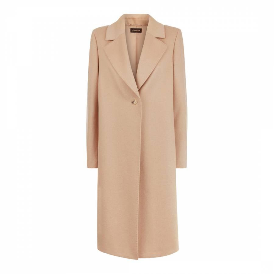 great variety models cheapest new concept Camel Wool Blend Boyfriend Coat - BrandAlley