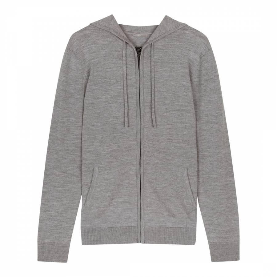 Grey Merino Wool Hoodie - BrandAlley 0494ad6d6