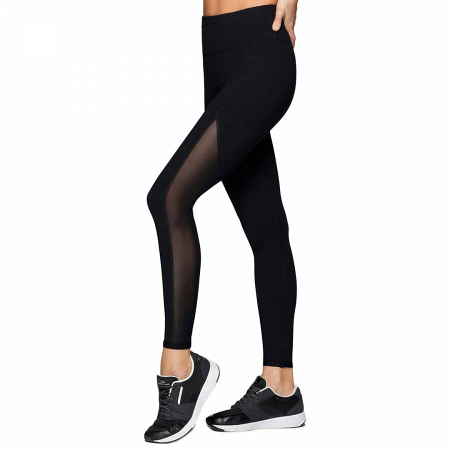 b1ad651f91ffa0 Black Core High Waisted Tights - BrandAlley
