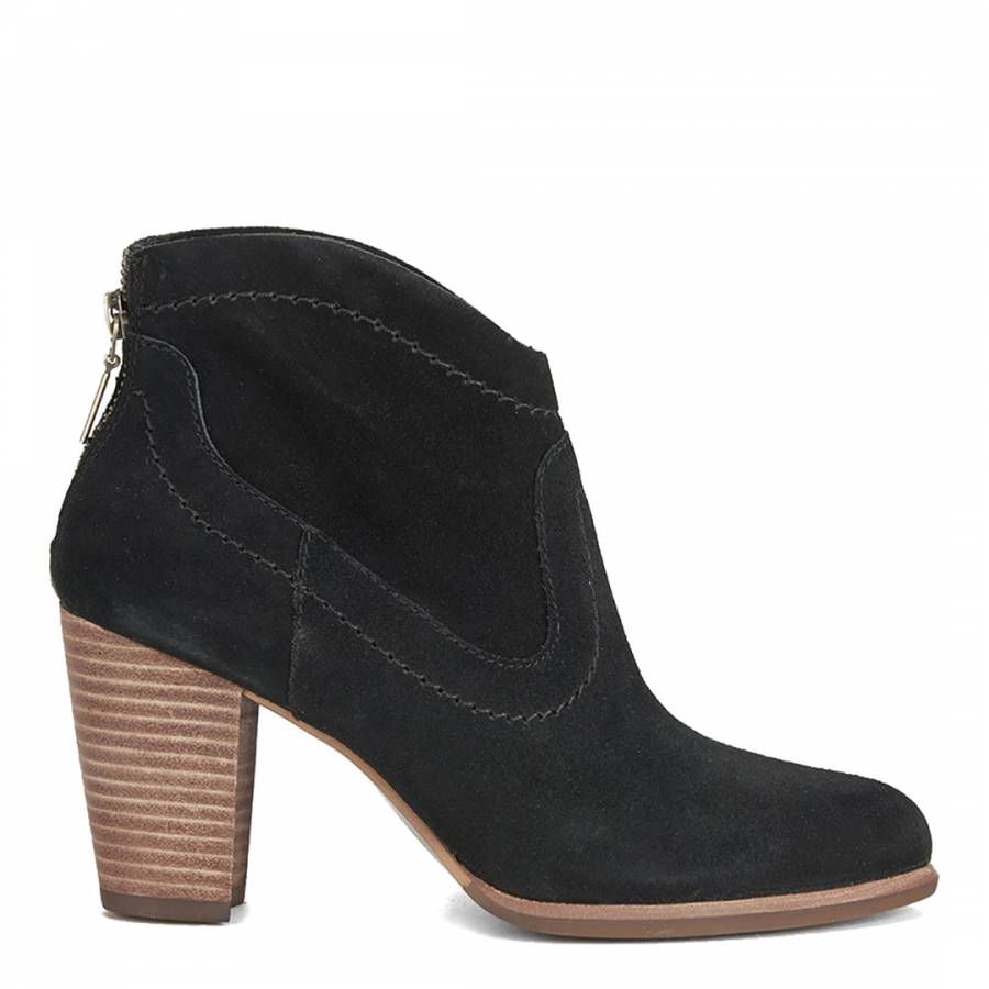 19d8e09d2aac Womens Black Suede Charlotte Ankle Boots - BrandAlley
