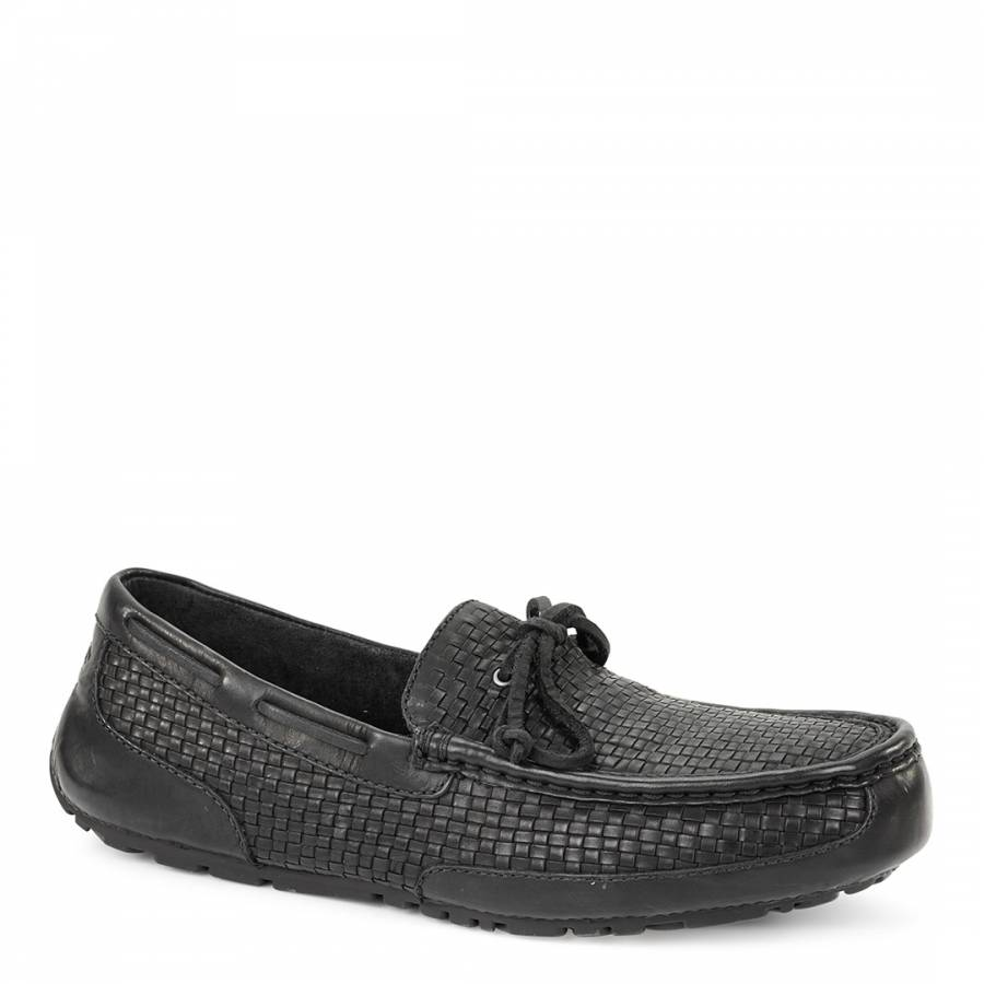 2449c249630 UGG Mens Black Woven Leather Chester Loafer. prev. next. Zoom