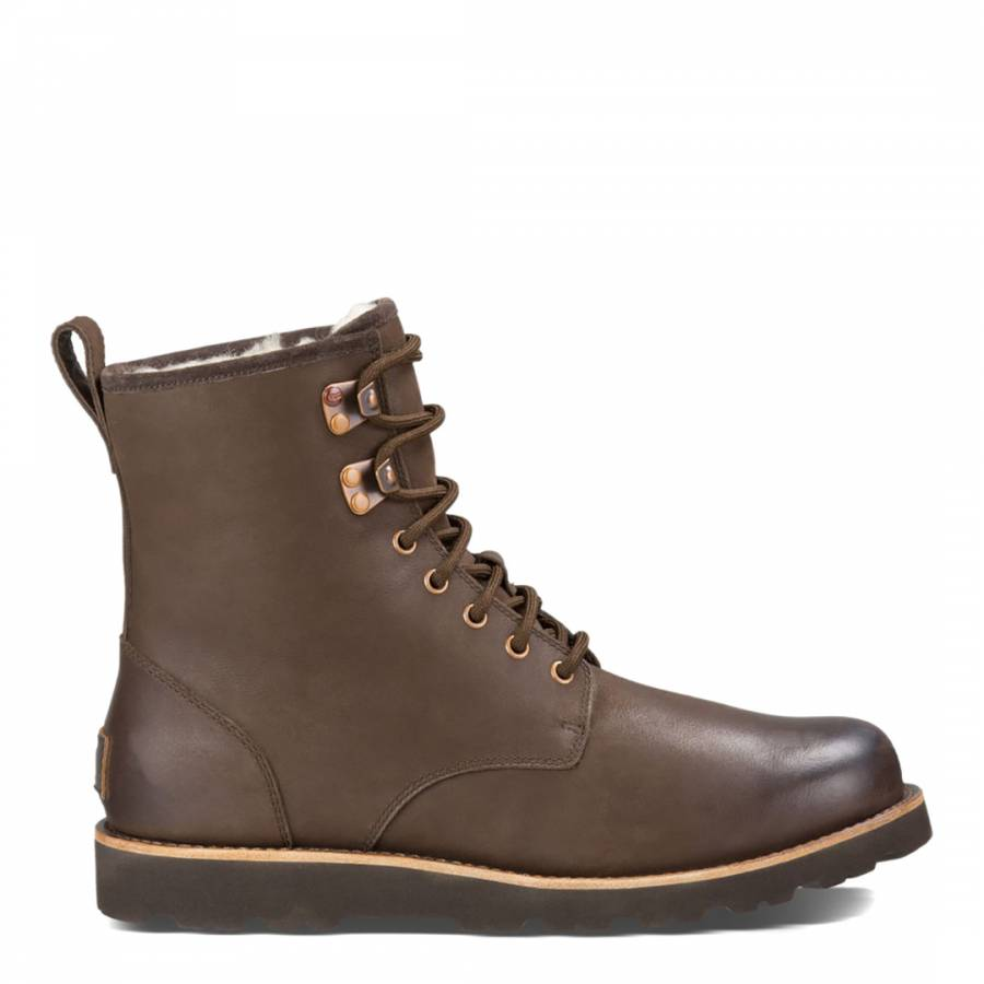 b0d962516c1 Mens Brown Leather Hannen TL Ankle Boots - BrandAlley