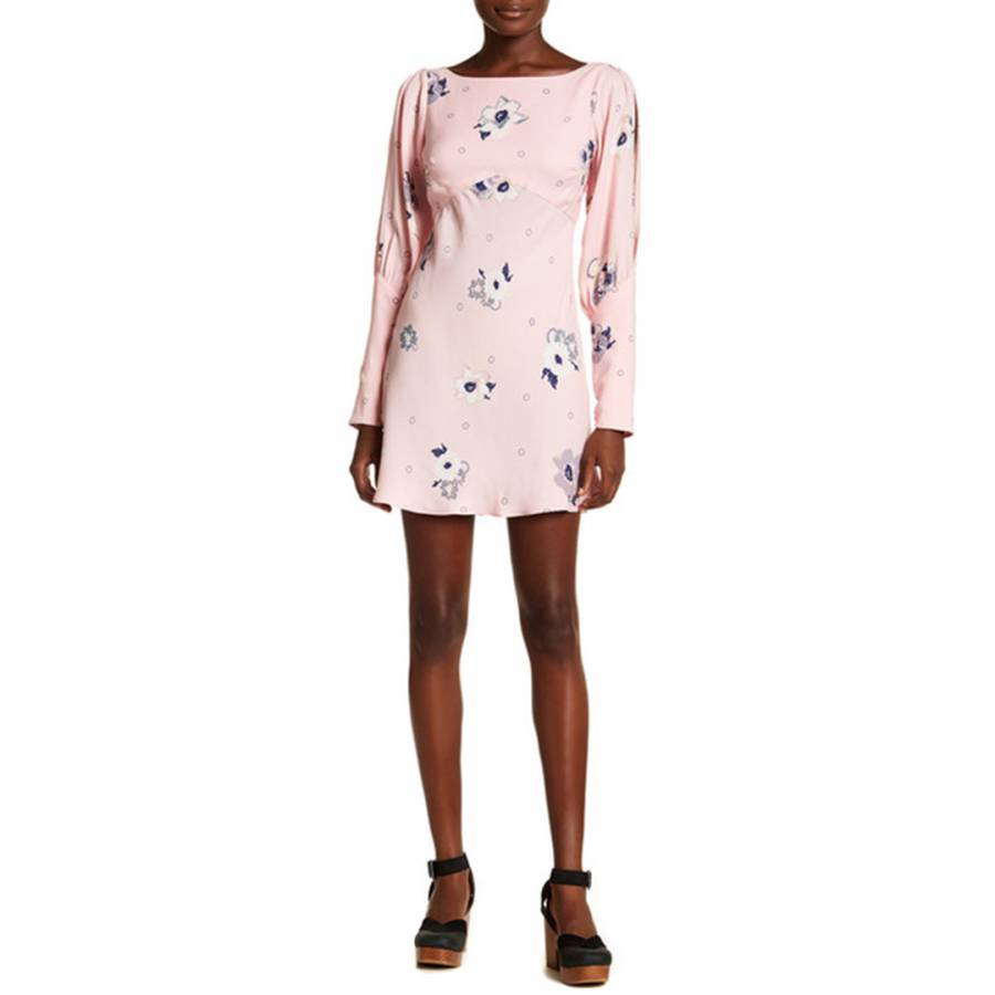 e7fe7fd352bb Zoom · Free People Pink Combo Sunshadows Mini Dress