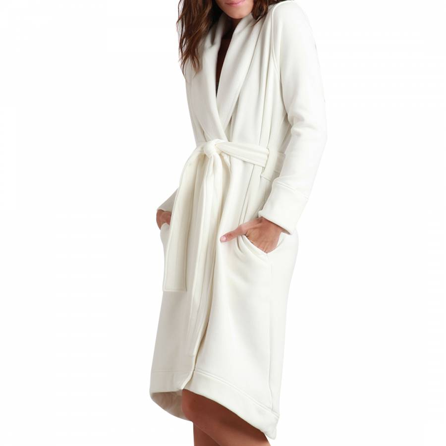 d9cbd79f95 Women s Cream Duffield Soft Fleece Robe - BrandAlley