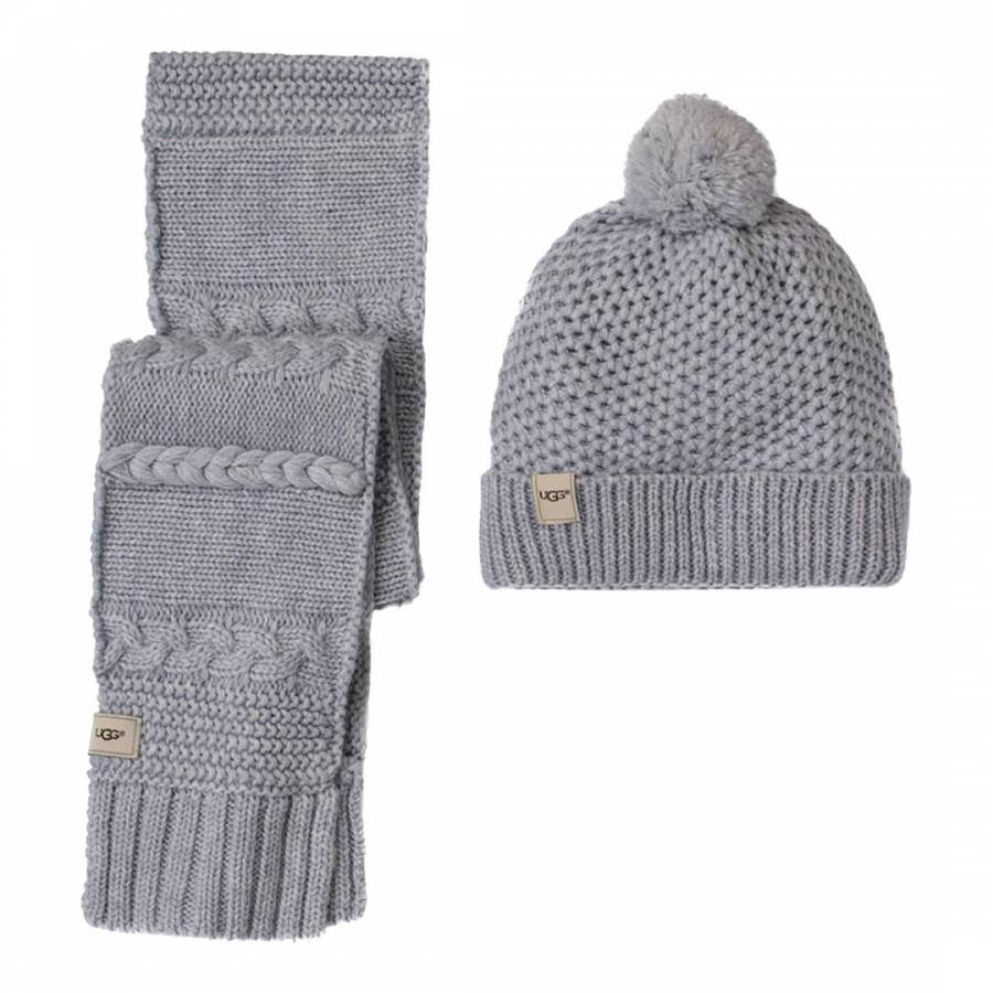 ce10fd57914 Girl s Grey Novelty Beanie   Scarf Boxed Set - BrandAlley