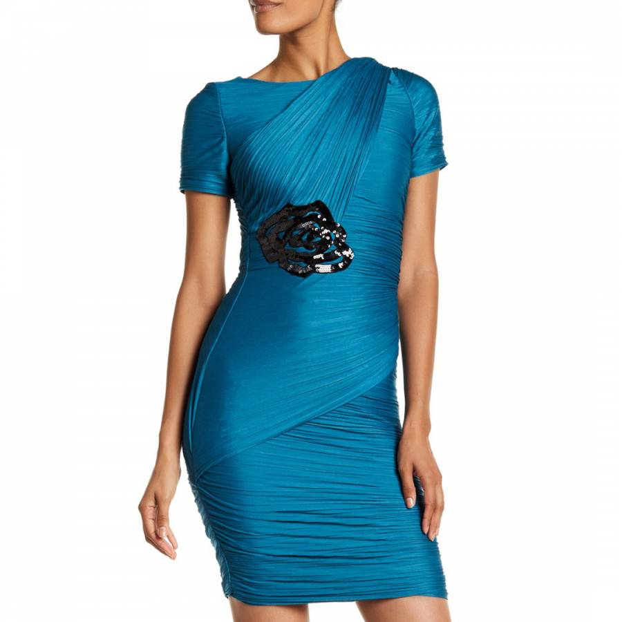 Cadmium Ruched Evening Gown - BrandAlley