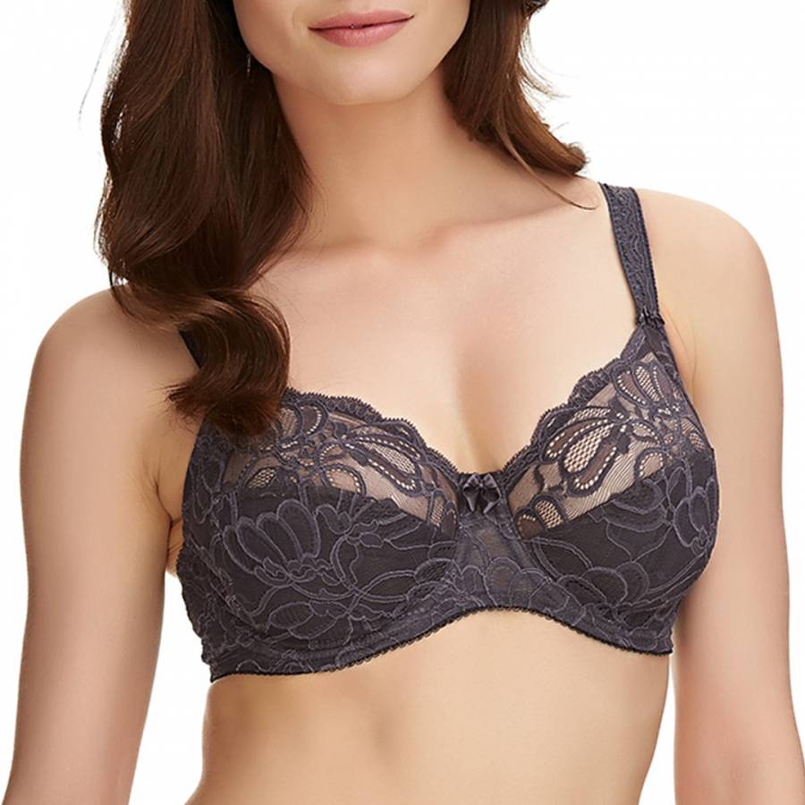 78bcf14b0e2f2 Grey Jacqueline Lace Underwire Full Cup Side Support Bra - BrandAlley