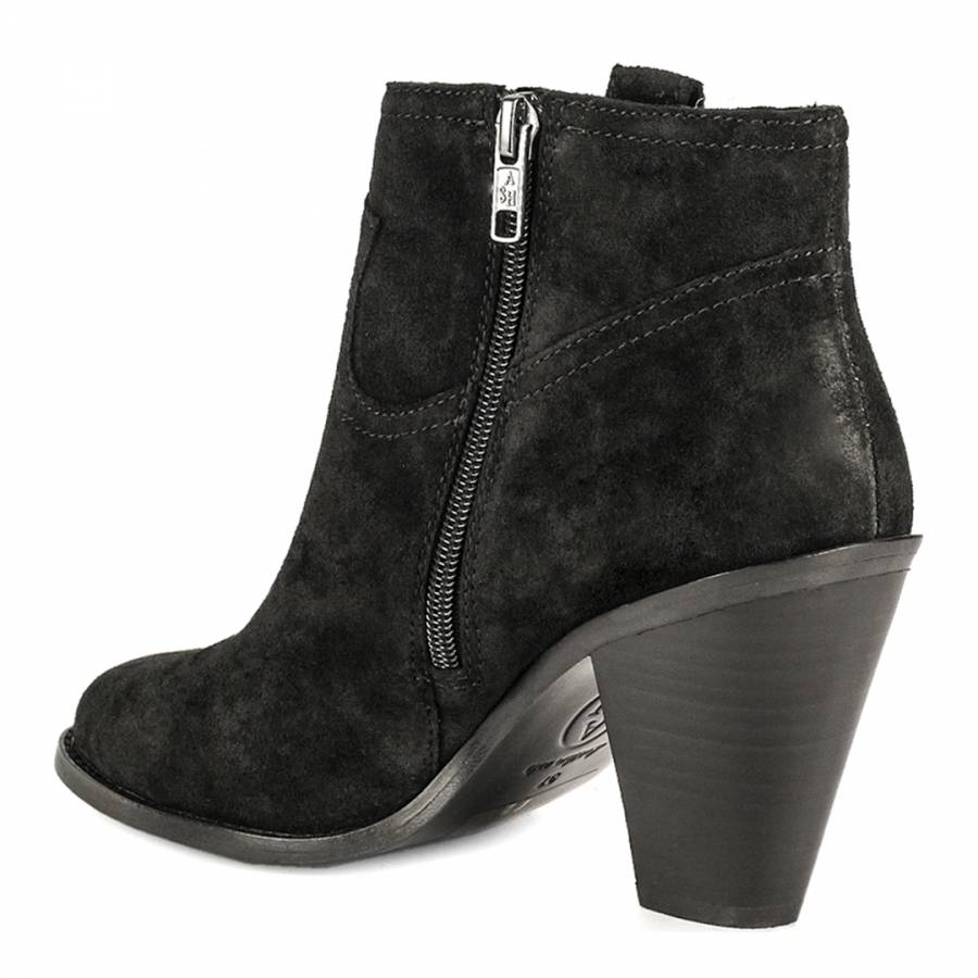 26735261b2d Black Suede Ivana Ankle Boots - BrandAlley