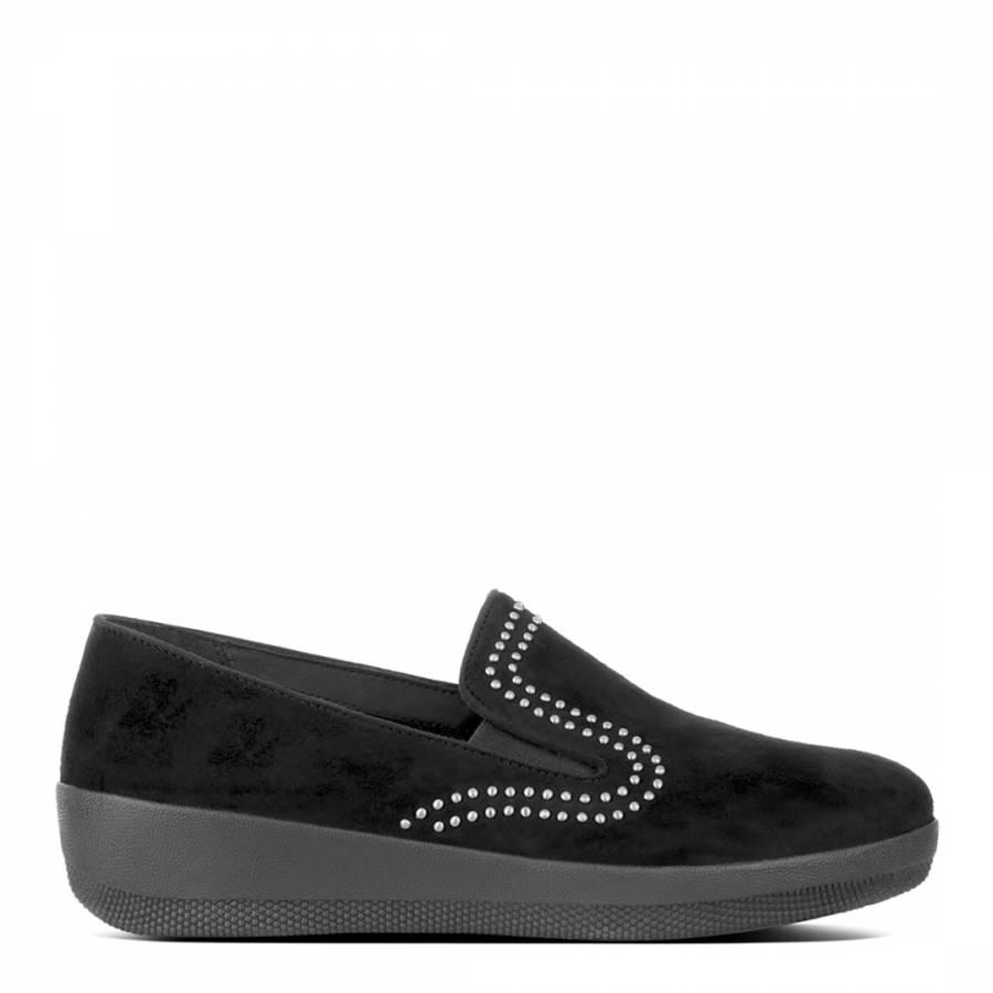 2695b4674fddf6 FitFlop Black Suede Superskate Studded Loafers. prev. next. Zoom
