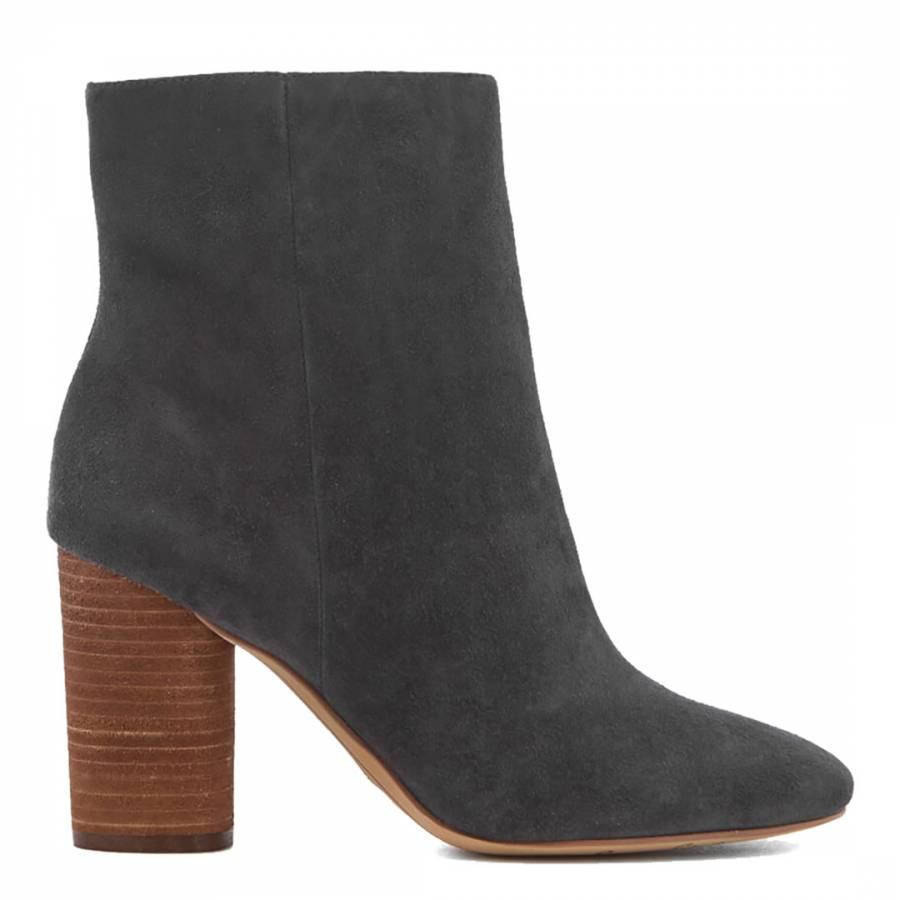 bfe7774f6245af Asphalt Suede Corra Stacked Heel Ankle Bootie - BrandAlley