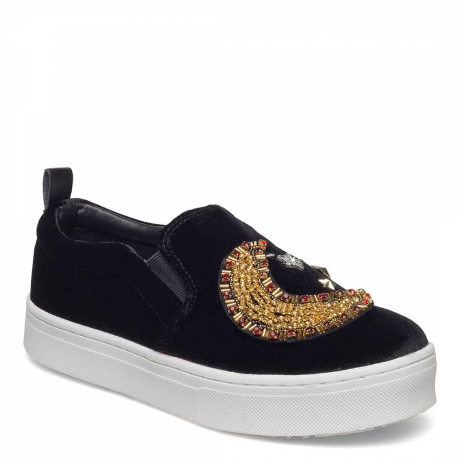bc1d33b9aa7cdb Black Velvet Leila 2 Embellished Sneakers - BrandAlley